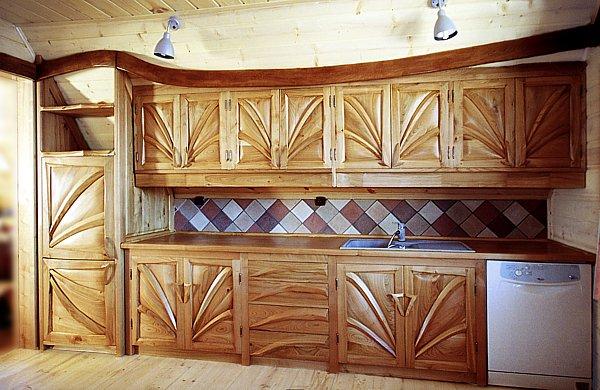 1011 - Meble kuchenne drewniane artystyczne na zamówienie.