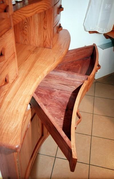 Meble dębowe drewniane do kuchni kredens narozny  jesionowy unikatowy. #1067