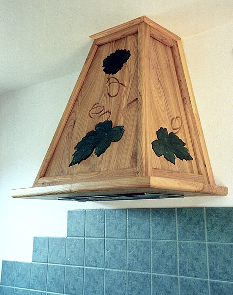 111 - Meble drewniane kuchenne unikatowe szkło fusing.