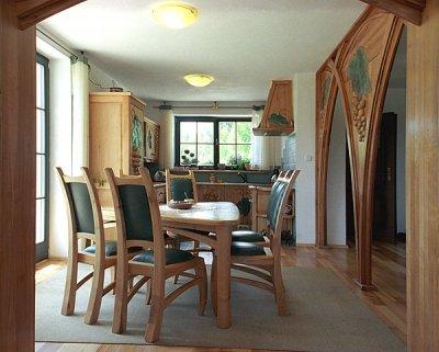 Meble drewniane krzesła tapicerowane unikatowe artystyczne fusing. #1113