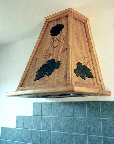 Meble drewniane kuchenne unikatowe szkło fusing. #1117