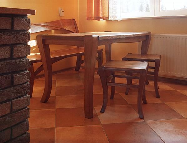 1144 - Meble drewniane jadalnia stół dębowy unikatowy.