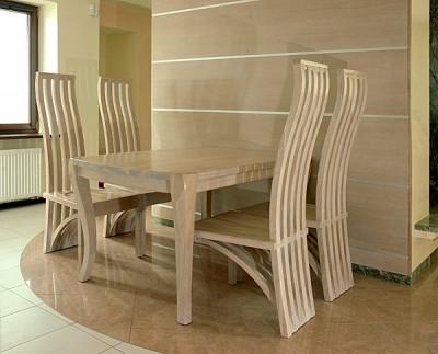 Meble krzesła stół drewniane dębowe do jadalni. #1151
