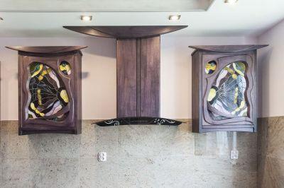 11612 Drewniane szafki kuchenne odciąg