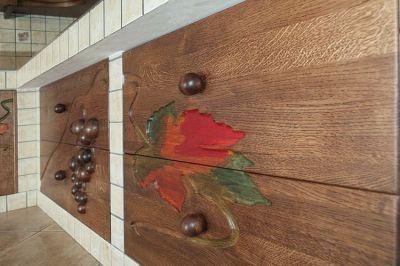 artystyczne szuflady drewniane z dębu. #11712
