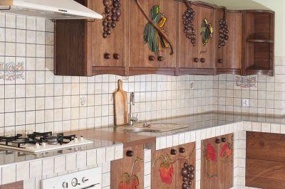 meble drewniane kuchnia artystyczna winogrona. #1176