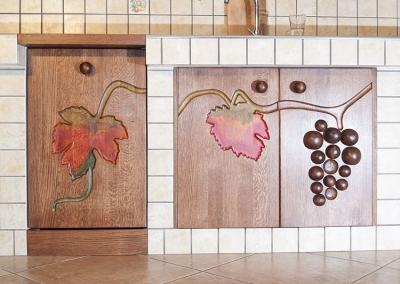 dębowe drewniane szafki kuchenne. #11711