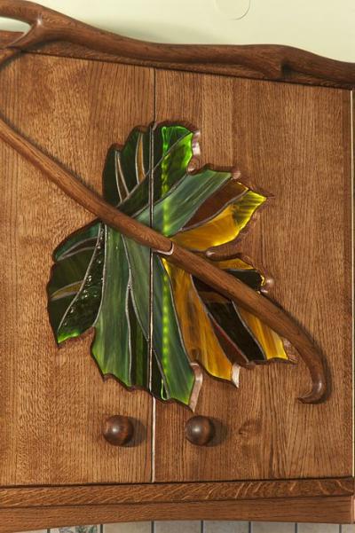 artystyczny witraz drzwi szafek kuchennych #1179
