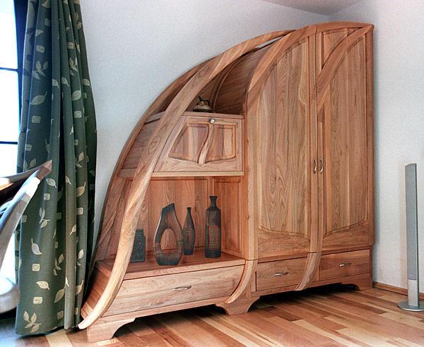2025 - Meble drewniane salonowe szafa z drewna unikatowa artystyczna na wymiar.