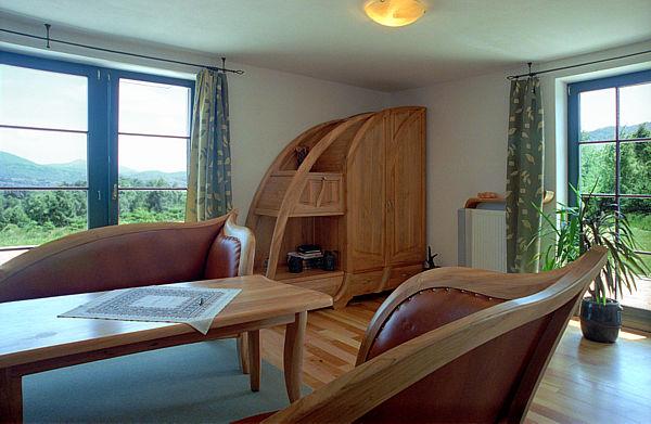 2026 - Meble z drewna do salonu, pokoju dziennego ręcznie wykonane.