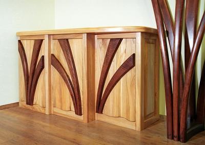 Meble z drewna do pokoju dziennego komoda projekt autorski. #2031a