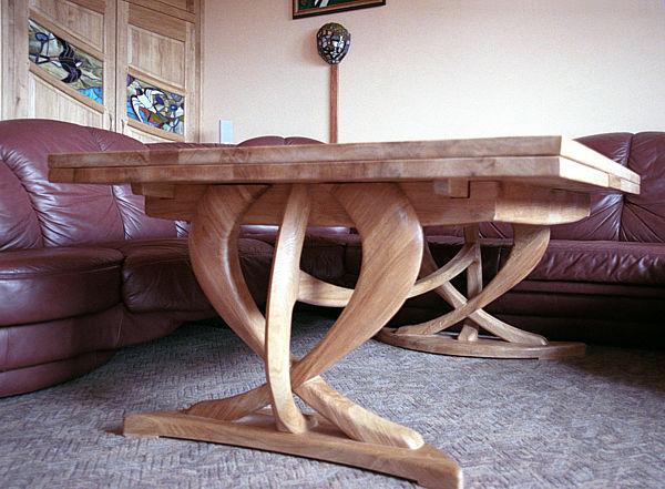 2048 - Meble z drewna stół dębowy rozkładany unikatowy.
