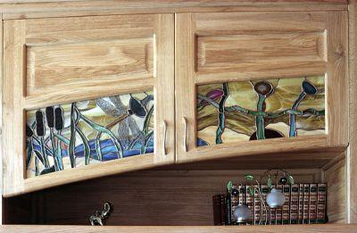 Meble z drewna dębowe unikatowe witraze artystyczne. #2044