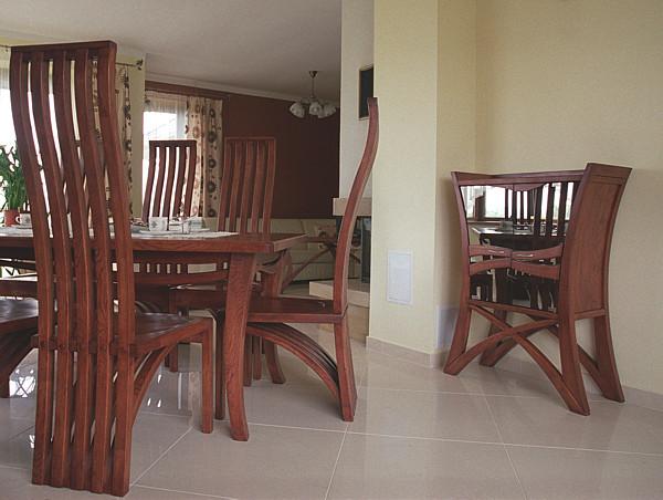 2055 - Meble drewniane artystyczne do pokoju dziennego, unikatowy barek z drewna dębowego.