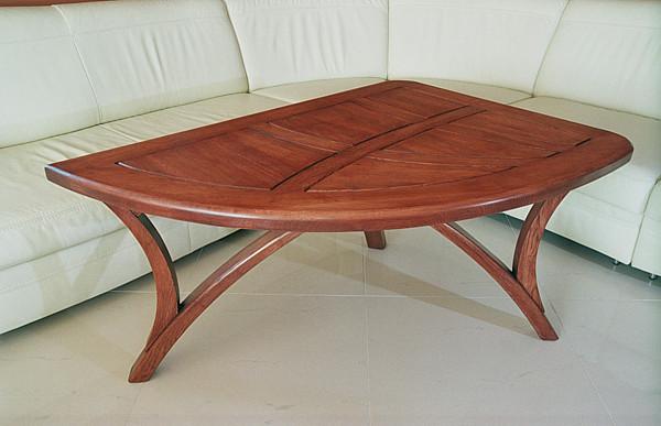 2058a - Meble z drewna unikatowa ława do salonu.