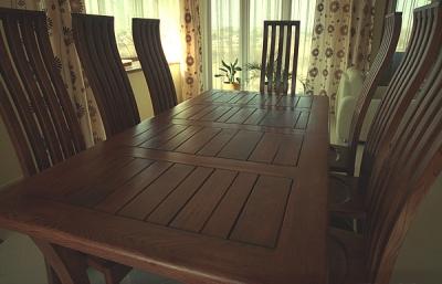 Meble z drewna artystyczne stol i krzesla debowe na zamowienie. #2052