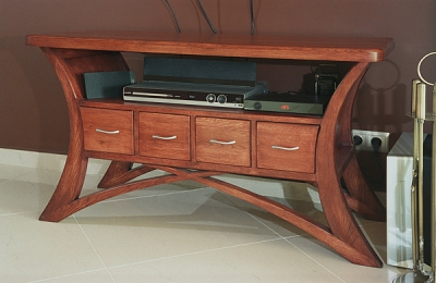 Meble debowe drewniane unikatowy stolik pod telewizor rtv, projekt autorski. #2059