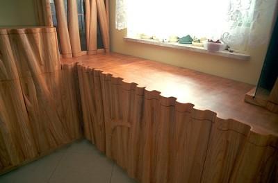 jesionowe meble drewniane szafki artystyczne #2063