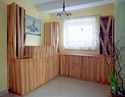 meble-drewniane jesionowe artystyczne salon #2061