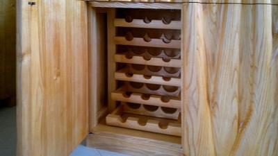 meble drewniane jesionowe na wina #2066