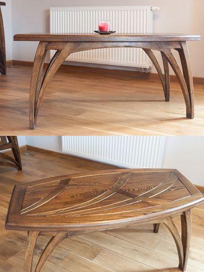 ława stolik kawowy z drewna akacji #2076