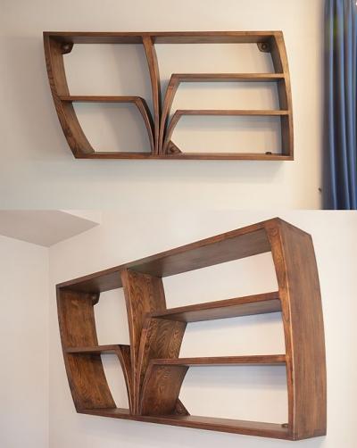 unikatowa półka drewniana akacjowa #2075