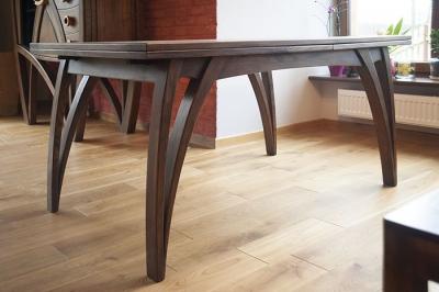 unikatowy stół drewniany rozkladany #2077