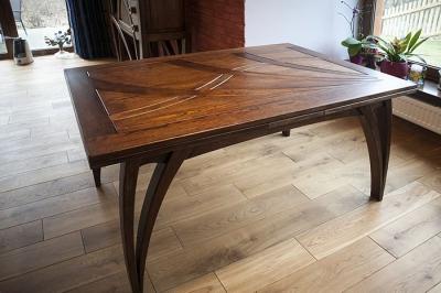 debowy stół rozkladany z drewna rysunek blatu #2078