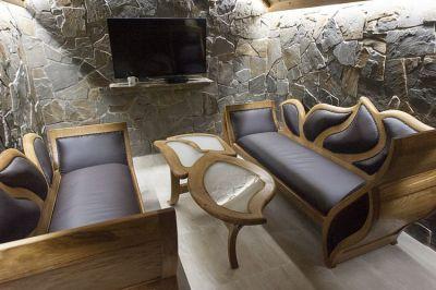 dębowe sofy tapicerowane skórą #2081