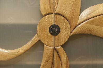 meble dębowe drewniany detal witryny #2089