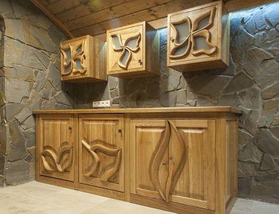 szafki kuchenne drewniane dębowe #20891