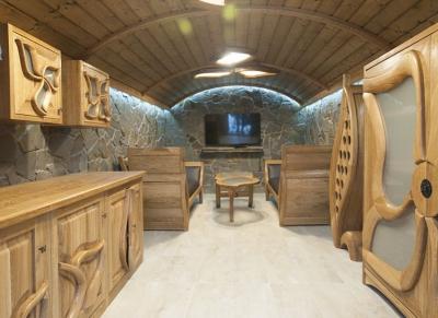 szafki drewniane dębowe meble kuchenne artystyczne #2085