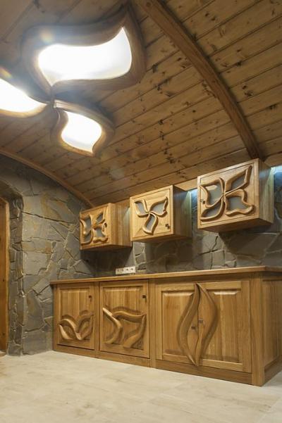 meble kuchenne dębowe drewniane #20891