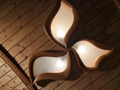drewniana unikatowa lampa led #20892
