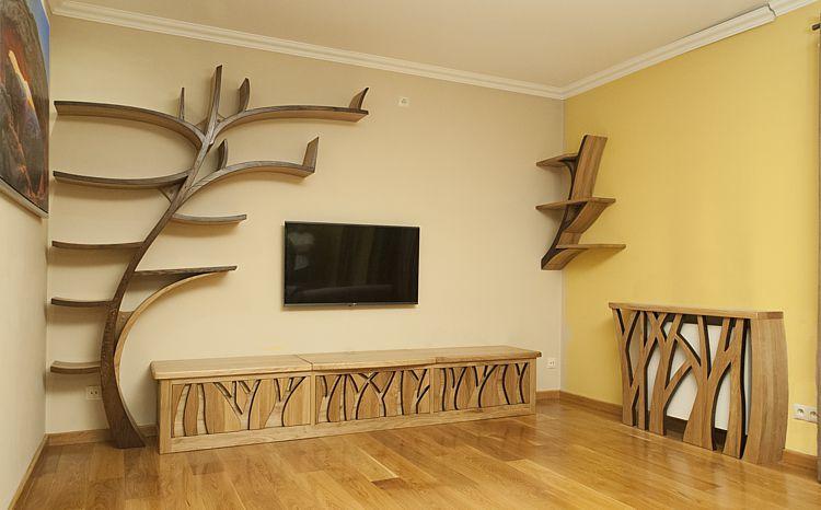 meble drewniane do pokoju dziennego 2091