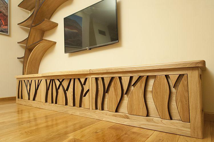 drewniana szafka rtv 2093