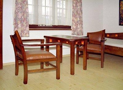 drewniane fotele unikatowe tapicerowane. #3034