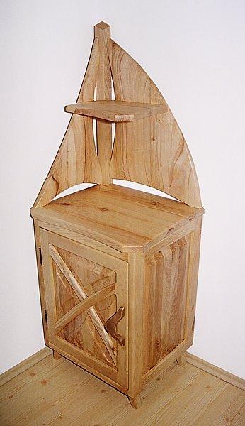 Meble drewniane do sypialni szafka jesionowa unikatowa artystyczna, autorskie meble. #3044
