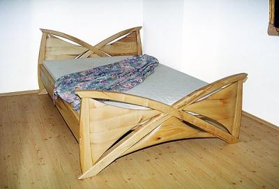 Meble drewniane lozko jesionowe unikatowe artystyczne do sypialni, autorskie meble. #3042