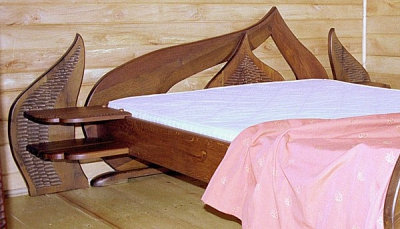 Meble z drewna do sypialni lozko drewniane unikatowe artystyczne autorskie. #3052