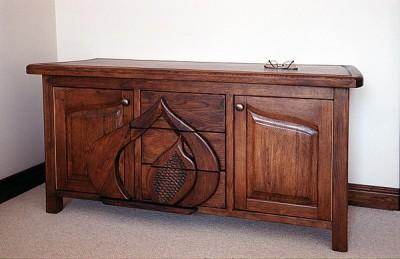 Meble drewniane unikatowa artystyczna komoda debowa na wymiar do sypialni. #3102
