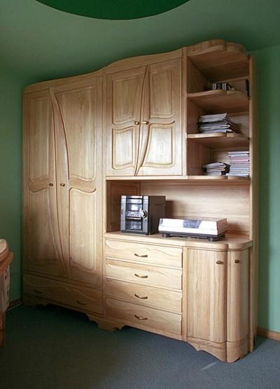 Meble z drewna dębowa unikatowa artystyczna szafa do sypialnia sprzęt audio dizajnerska. #3111