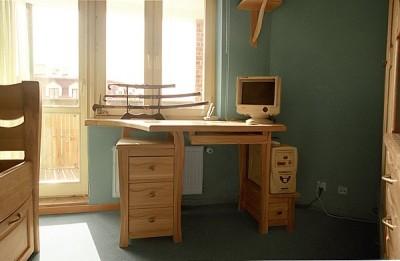 Meble drewniane biurko dębowe unikatowe na zamówienie. #3114