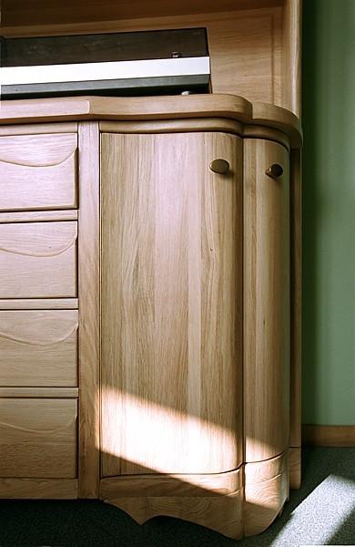 szafa dębowa unikatowa artystyczna na wymiar do sypialni. #3115