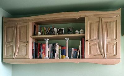 Meble drewniane szafka dębowa wisząca do sypialni na wymiar. #3113