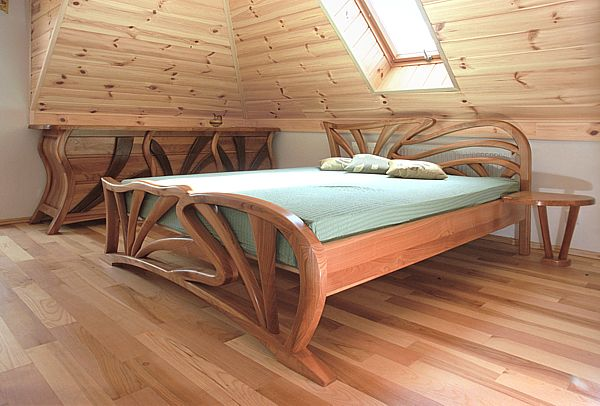 łóżko Drewniane Meble Drewniane I Artystyczne Na