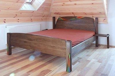 Meble z drewna lozko debowe autorskie unikatowe do sypialni dizajnerskie, projekt autorski. #3131