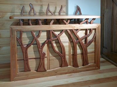 komoda drewniana artystyczna unikatowa do sypialni, dizajnerska, autorska. #3142