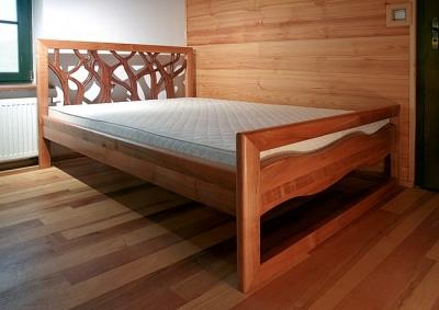 Meble drewniane łóżko artystyczne unikatowe na wymiar do sypialni. #3145