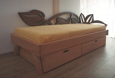 lozko drewniane do sypialni. #3162